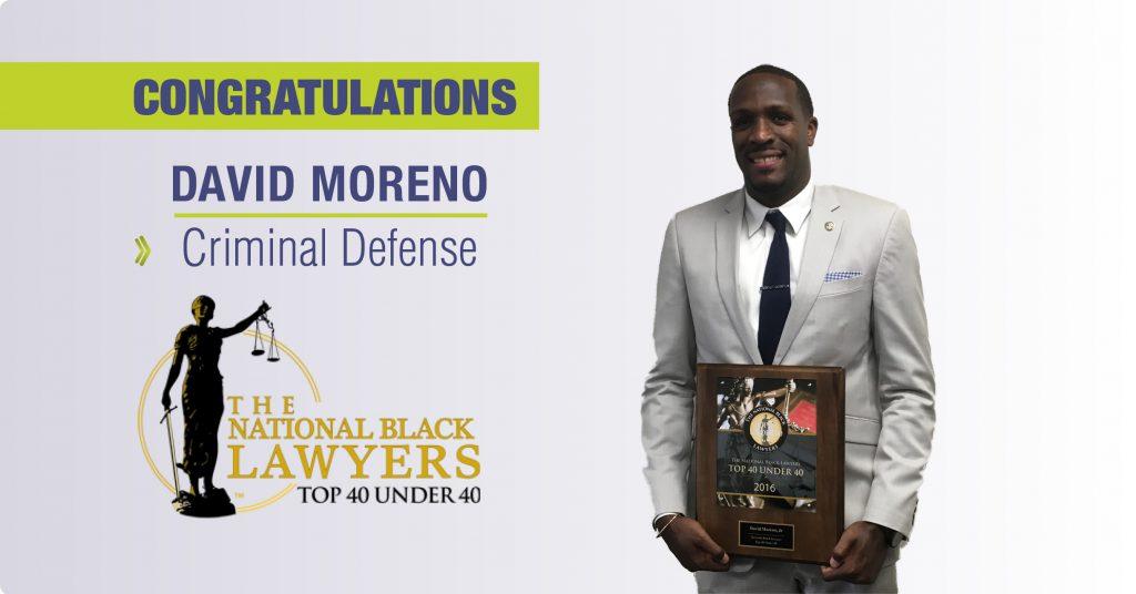Congratulations David Moreno!